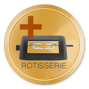 FORCE Gasgrill Orange inkl. Rotisseri