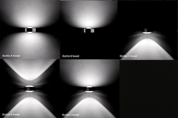 Occhio typer af lys