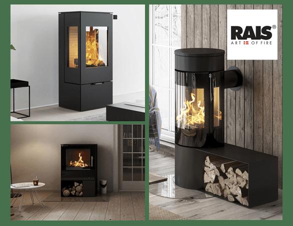 køb Rais brændeovne online med fri fragt