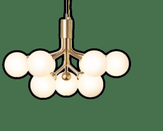 køb lysekrone online - designlamper og belysning fra kendte mærker